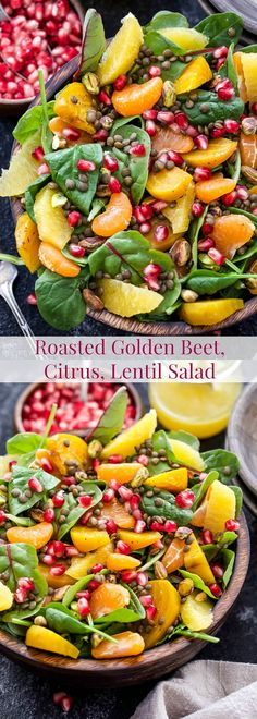 A superfood salad that's as delicious as it is beautiful! Nourish your body with this Roasted Golden Beet, Citrus, Lentil Salad. Perfect as a meatless main dish or side dish!