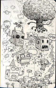 Moleskine sketches by jimbradshaw, via Flickr