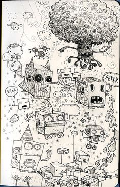 Moleskine sketches by jimbradshaw, via Flickr