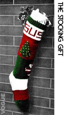 vogue knitted christmas stocking pdf pattern christmas is that wonderful oncea