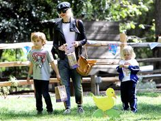 Mom on the go Gwen Stefani with son Kingston and Zuma