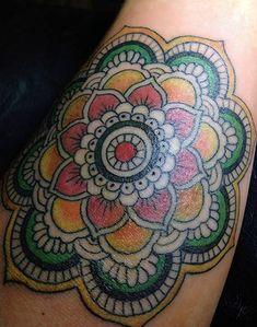 tattoo, me, mandala tattoo, love the colors