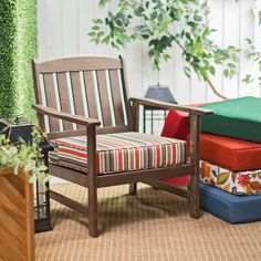 Have to have it. Coral Coast Outdoor Furniture Deep Seating Seat Cushion - 22.5L x 21.5W x 5H - $39.99 @hayneedle.com