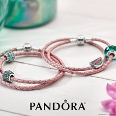 Pandora Watermelon Leather Bracelets