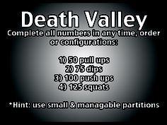 Dealer's Choice Workout. Complete all numbers in any fashion desired.