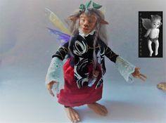 Ooak Fairy Doll with horn por Poliquimeras en Etsy