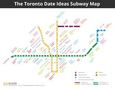 The Toronto Subway Date Map: The best date ideas in Toronto, near to each subway station (yes, all 69 of them!) #toronto #canada #torontodateideas