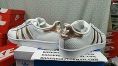 Women Adidas Superstar Original White Copper Rose Gold Shell Toe Yeezy Snakeskin