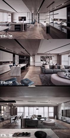 New Interior Design, Interior Concept, Interior Design Living Room, Living Room Designs, Modern Apartment Design, Apartment Interior, Modern Kitchen Interiors, Unique House Design, Fancy Houses