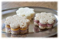 How to make cute tea party sandwiches with cookie cutters - http://susanevans.org/blog/creative-ways-to-use-cookie-cutters-3/
