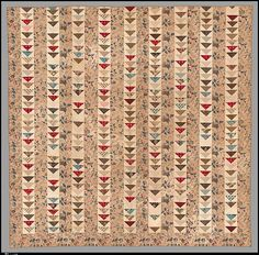 Quilt, Flying Geese pattern, US, American, cotton Old Quilts, Antique Quilts, Scrappy Quilts, Mini Quilts, Vintage Quilts, Texas Quilt, Flying Geese Quilt, Paper Quilt, Civil War Quilts