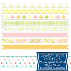 Lemonade Border Lemonade Ribbon Lemon Border by CandyBoxDigital