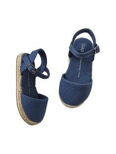 Canvas espadrille sandals - Baby Gap