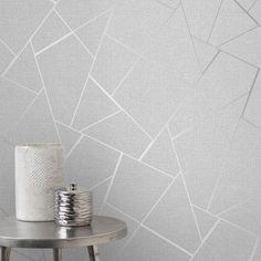 Triangle Geometric lines wallpaper white silver metallic Textured wall coverings Cream Wallpaper, Lines Wallpaper, Trendy Wallpaper, Wallpaper Roll, Silver Glitter Wallpaper, Gold Glitter, Glitter Walls, Glitter Bomb, Bedroom Ideas