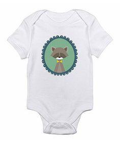 Look what I found on #zulily! White Raccoon Bodysuit - Infant #zulilyfinds