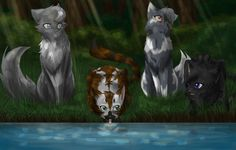 This was a request from PaintKitty1235. Characters: Eclipsepaw, Skypaw, Cloudypaw and Hollypaw. Watch Speedpaint: www.youtube.com/watch?v=e_MZKq…