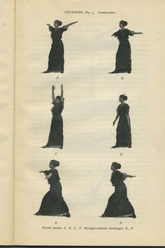 Exercise number 5 - Arm circling. From My system for woman by J.P.M Muller, 1913.