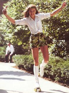 Brooke Shields. Roller Skating. #brookeshields #rollerskating #shorts