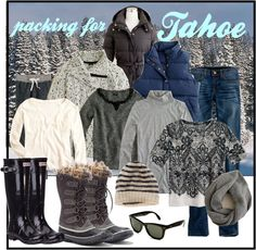 """Packing List for Tahoe Trip"" by patsystoned ❤ liked on Polyvore"