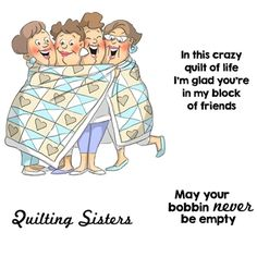 Art Impressions QUILT SET Girlfriends Cling Rubber Stamps 4544