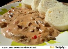 Čertovy houby recept - TopRecepty.cz Czech Recipes, Stuffed Mushrooms, Pudding, Ice Cream, Cheese, Cookies, Meat, Chicken, Desserts
