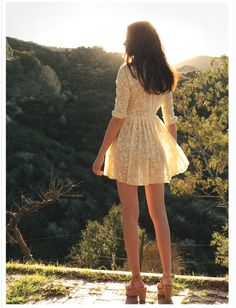 """luckymag:    """"A sweet floral dress gets tempered by a trim, vintagey cut.""""  lazy summer days, May 2011"""