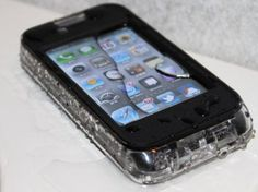 Waterproof iPhone 4 4S Case - The PaleKai - Retail (Clear/Blk) - Touchscreen Accessible