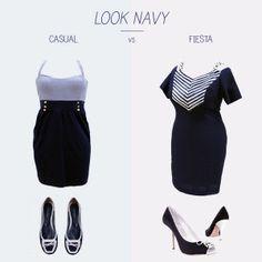 Navy: ¿Fiesta o casual? #navy #lookmarinero #tallasgrandes #outlet