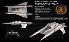 Earth Directorate Thunderfighter ortho by unusualsuspex.deviantart.com on @deviantART (Buck Rogers in the 25th Century)