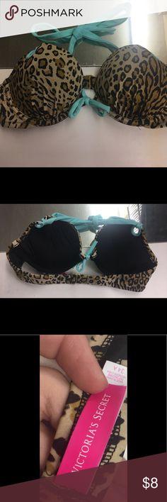 Victoria's Secret Swim Top 🌸 Leopard print Victoria's Secret Swim Top. Size 34A. Victoria's Secret Swim Bikinis