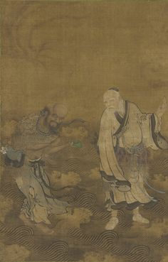 Daoist Immortals Walking on Water  late 15th century