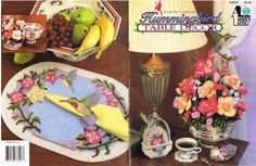 Vintage Plastic Canvas Pattern Hummingbird Table Decor Flowers Coasters Annie's  #AnniesAttic