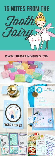 Cute and fun note ideas to leave from the Tooth Fairy!