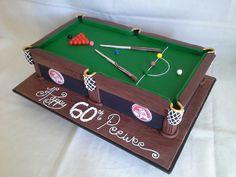Snooker Table Cake - by MJSCakesHB @ CakesDecor.com - cake decorating website