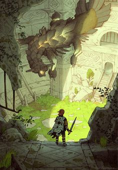 Shadow of the Colossus art by Matt Rockefeller