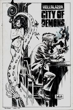 Hellblazer: City of Demons #5 Cover (2010) Comic Art For Sale By Artist Sean Gordon Murphy at Romitaman.com