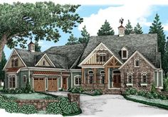 Birchriver Cottage - Home Plans and House Plans by Frank Betz Associates