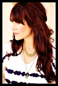 Would love to color my hair auburn like this. wow
