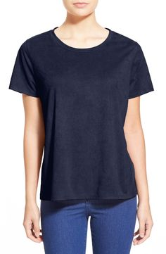 Madison & Berkeley Faux Suede Tee