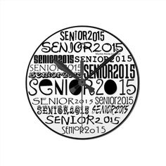 Senior 2015 Clock | Designs by Blue Beach Song™  http://www.zazzle.com/bluebeachsong/gifts?cg=196803705843653037&rf=238706427652551388