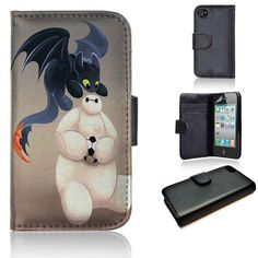 Baymax and Dragon Toothless   Big Hero 6   Disney   wallet case   iPhone 4/4s 5 5s 5c 6 6+ case   samsung galaxy s3 s4 s5 s6 case   - JEFFRPOPE