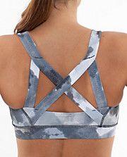 Crisscrossing sports bras...