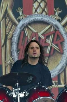Dave Lombardo drummer for Slayer                                                                                                                                                      More