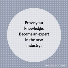 What are you an expert in? #CareerChangers