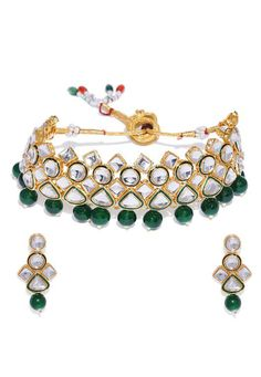 Shop Green Alloy Austrian Diamond Necklace Set Earrings 199005 online from huge collection of indian ethnic jewellery at Indianclothstore.com. Ethnic Jewelry, Pearl Jewelry, Fashion Jewelry Stores, Fashion Jewellery, Diamond Necklace Set, Earring Set, Bracelet Watch, Pearls, Indian Ethnic