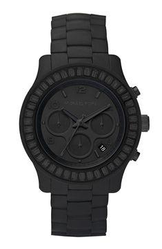 Michael Kors 'Runway' Silicone & Baguette Watch | Nordstrom