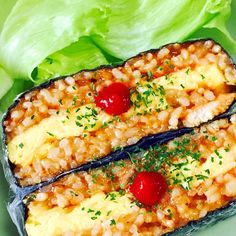 """Omurice Onigirazu (Rice Sandwich):""""Onigirazu"""" are rice sandwiches that became a huge hit in Japan in 2015. You can make Omelette Rice into Onigirazu! provided by OYSHEE - easy recipes -"""