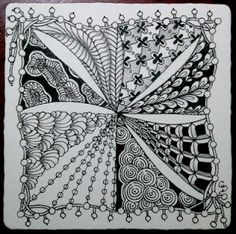 lots of interesting patterns - http://tanglebucket.blogspot.com/search/label/zentangle
