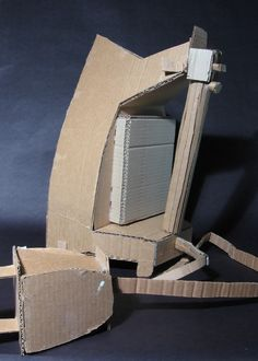 Cardboard sculptures of everyday objects - Iron