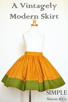 A Vintagely Modern Skirt - Simple Simon and Company@skkessen How cute is that?